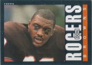 donrogersrookie1985toppscard.jpg (300×213) The late Don Rogers.THey held a service for him in Old Stone Church in Public Square Cleveland June 1986 | ... - donrogersrookie1985toppscard